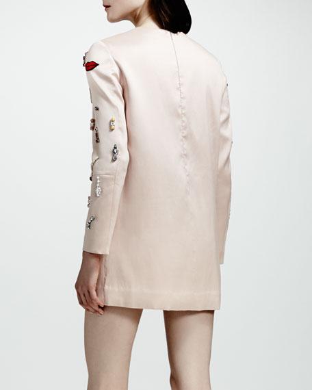 Embellished Shift Dress, Rose