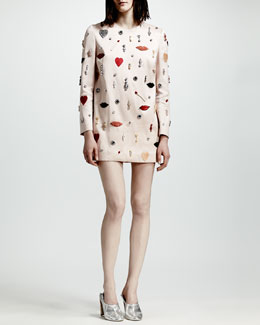 Stella McCartney Embellished Shift Dress, Rose