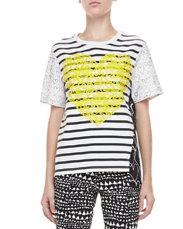Stella McCartney Stripe and Heart Tee