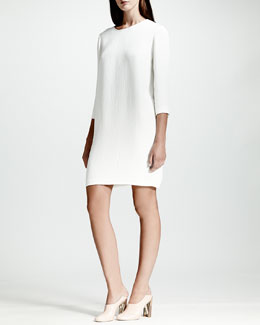 Stella McCartney Python Jacquard Dress, White