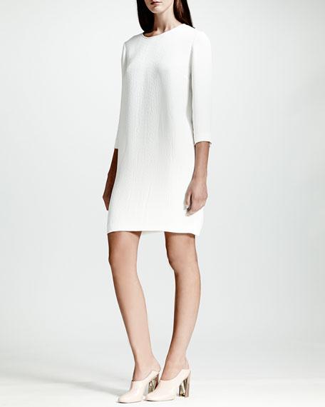 Python Jacquard Dress, White