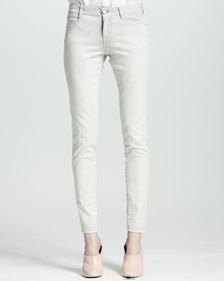 Four-Pocket Acid Wash Jeans