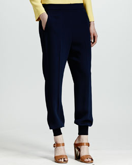 Stella McCartney Cuffed Harem Pants, Indigo