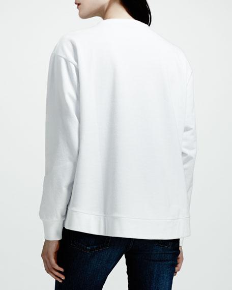 Lip Sweatshirt, White