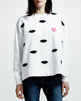 Stella McCartney Lip Sweatshirt, White