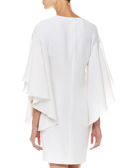 Lilian Flutter-Sleeve Dress