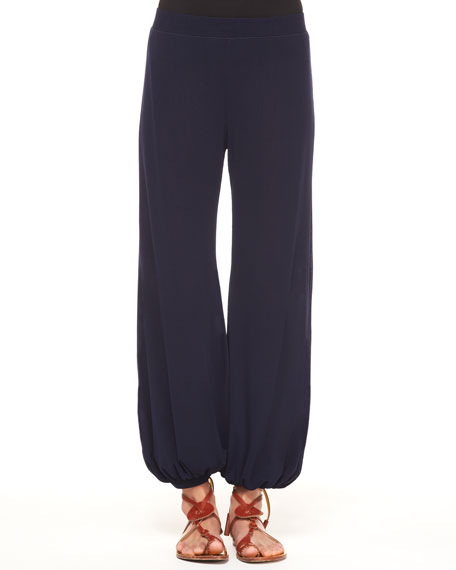 Tulle Harem Pants with Elastic Hem