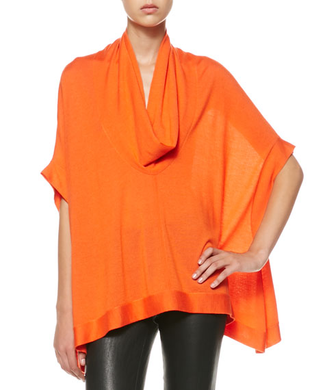 Draped Cowl-Neck Top