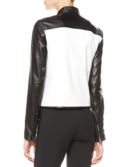 Bismarck Two-Tone Leather Jacket