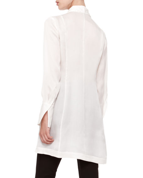 Long-Sleeve Tunic Blouse