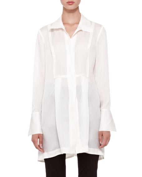 Long-Sleeve Tunic Blouse