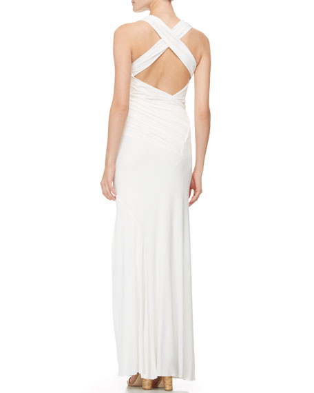 Sleeveless Crisscross-Back Gown