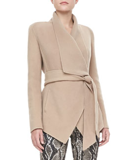 Donna Karan Cozy Cashmere Belted Jacket