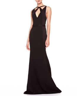 Jason Wu Crisscross-Top Combo Gown