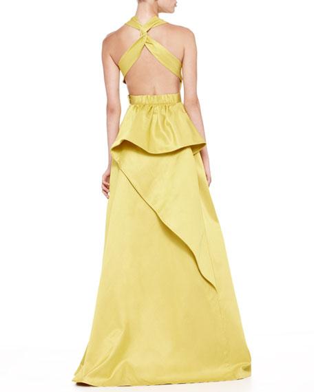 Duchesse Twist-Back Gown