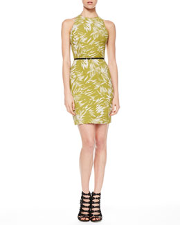 Jason Wu Fitted Racerback Botanical Dress