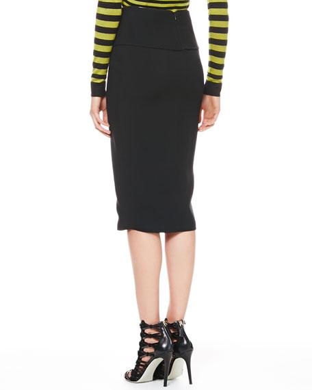 Cascade-Front Zip Skirt