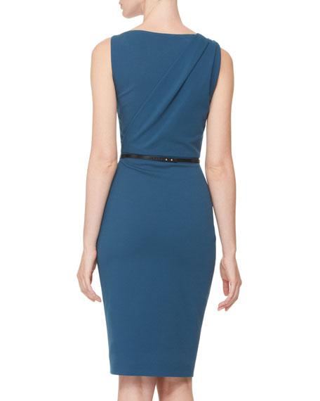 Twist-Shoulder Sheath Dress