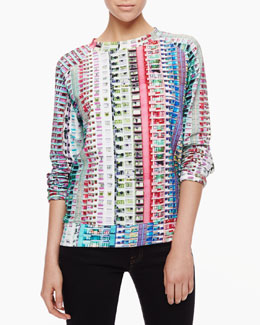 Mary Katrantzou Trellick Tower Printed Sweatshirt