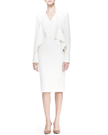 Wezen V-Neck Sheath Dress, White