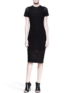 Alexander Wang Short-Sleeve Knit Midi Dress