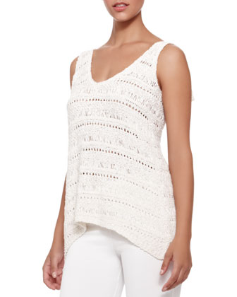 V-Neck Macrame Top