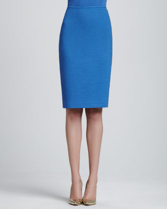 Knit Pencil Skirt, Pacific