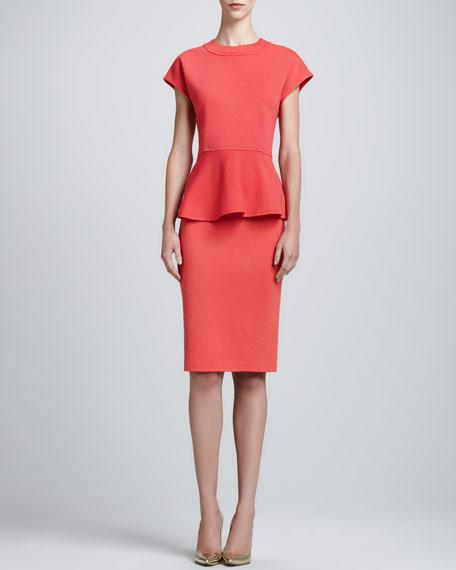 Milano Knit Pencil Skirt, Hibiscus