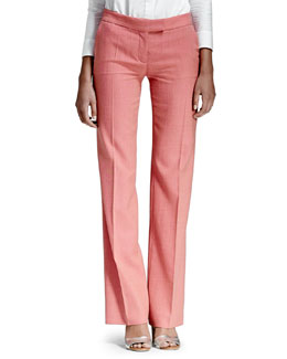 Stella McCartney Textured Straight-Leg Pants