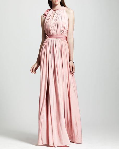 Grecian Liquid Jersey Gown, Rose