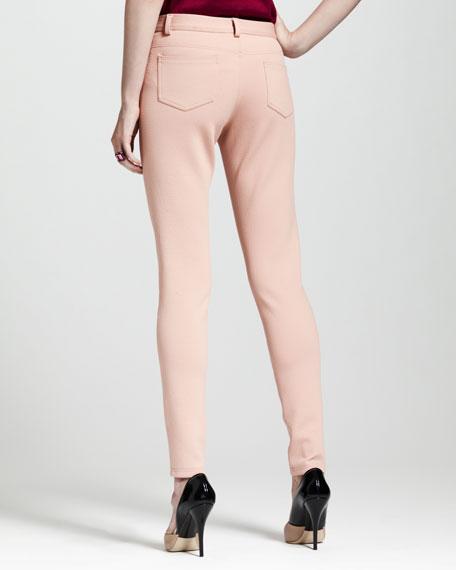 Jean-Inspired Leggings, Beige