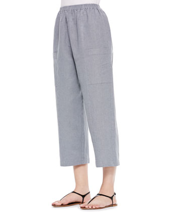 Seamed Japanese Trousers, Gray