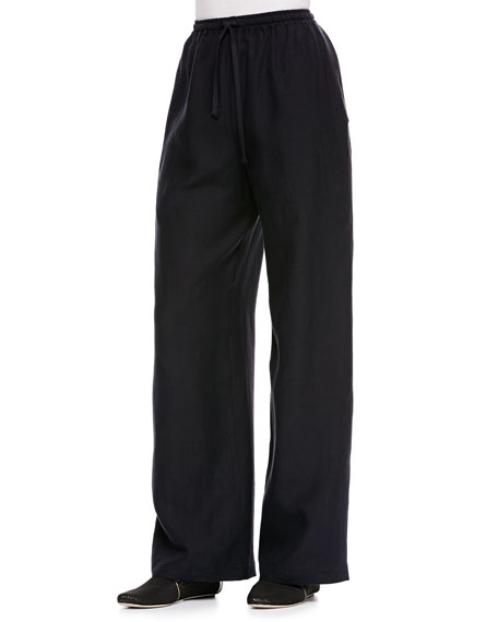 Drawstring Trousers, Dark Navy