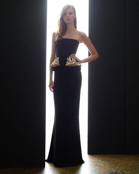 Alexander McQueen Strapless Gown with