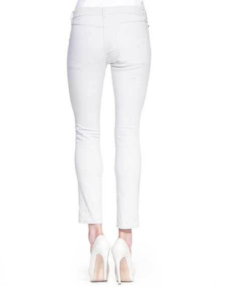 Low-Rise Cropped Jeans, Powder Blue