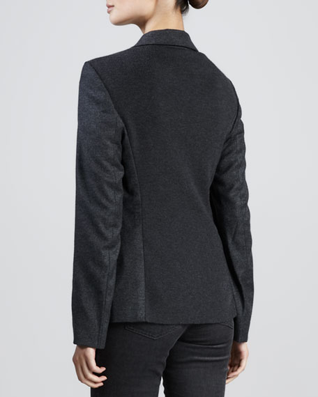 Ruffle-Lapel Jacket, Anthracite