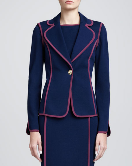Milano Fitted Blazer, Marine Blue