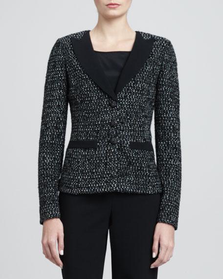 Tweed Tuxedo Jacket, Caviar