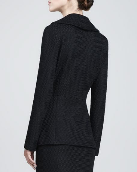 Domino Shawl-Collar Jacket, Caviar