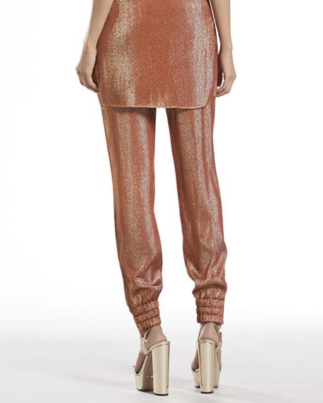 Iridescent Rust Liquid Jogging Pants
