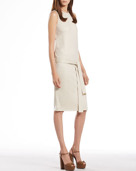 Clay Wool Jersey Sleeveless Dress