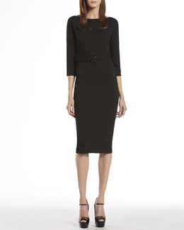 Gucci Black Belted Dress