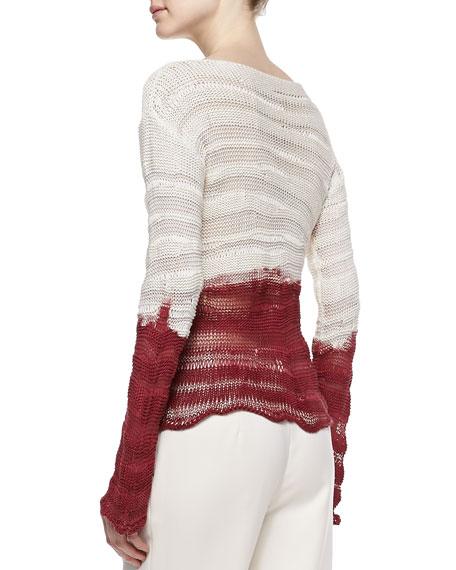 Interwoven Silk Pullover