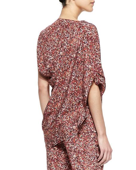 Printed Silk Georgette Asymmetric Top