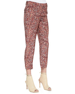 Bottega Veneta Printed Silk Georgette Pants