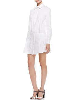 Thakoon Eyelet-Peplum Shirtdress