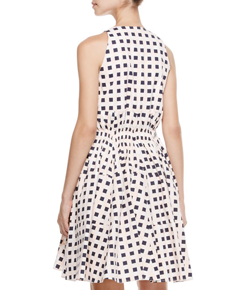 Printed Cinched-Waist Dress