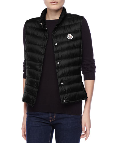 Moncler Quilted Puffer Vest, Black