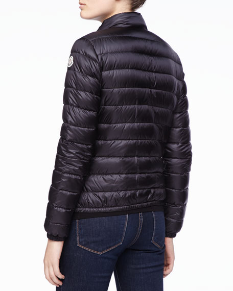 Zip Puffer Jacket, Black