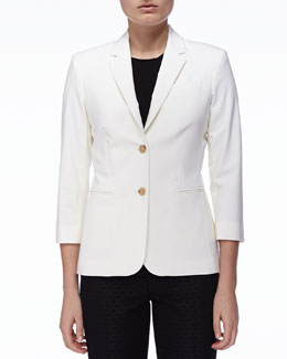 THE ROW New Schoolboy Jacket, Ivory